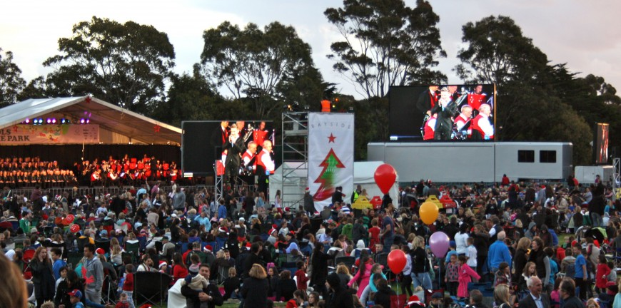 Big Screens at Christmas Carols